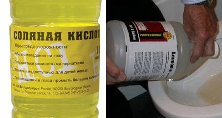 Прочистить канализацию соляной кислотой