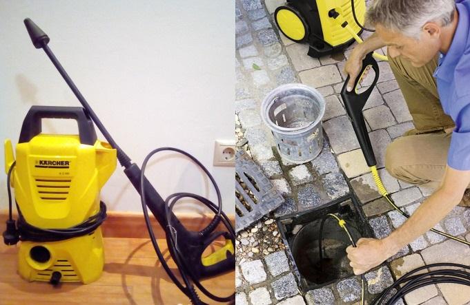 Способ прочистки канализации - Керхер.