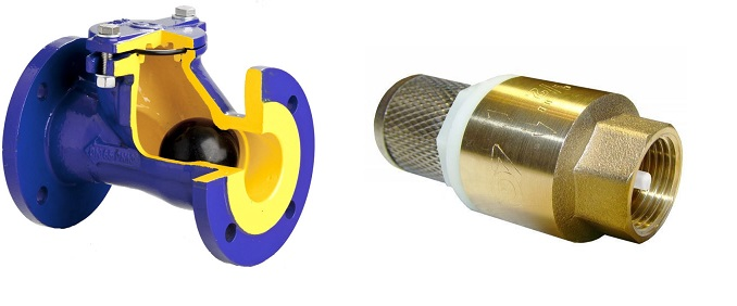 Фланцевый и муфтовый клапан- пример