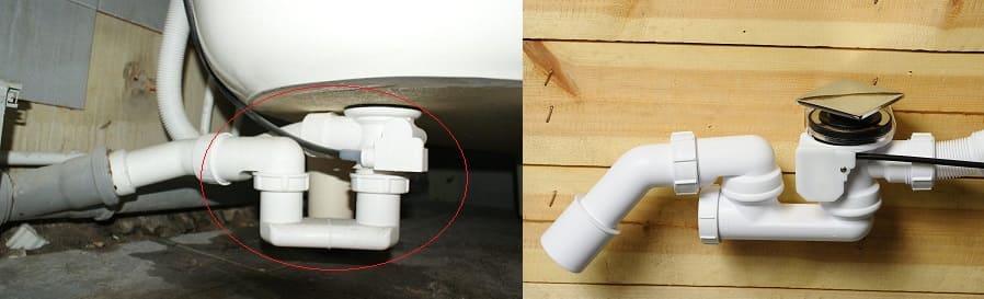 Как устранить запах из канализации в ванной с помощью гидрозатвора.