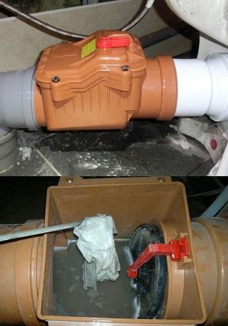 Пример работы обратного клапана