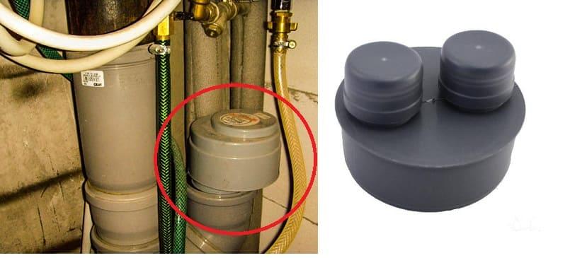 В квартире воздушный клапан для канализации (как вариант) монтируется к канализационной трубе с помощью тройника