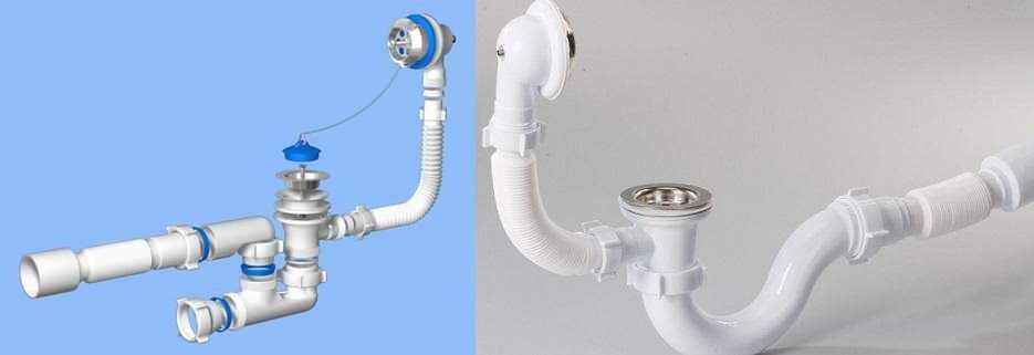 Система слива перелива в раковине