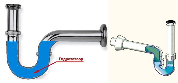 Трубный гидрозатвор