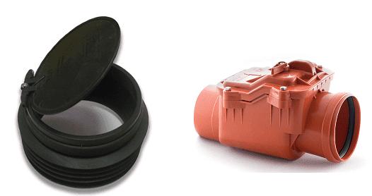 Лепестковый и подъемный обратный клапан