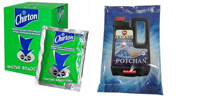 Гранулированные средства - химический состав таких продуктов мгновенно справляется с засором и растворяет затор