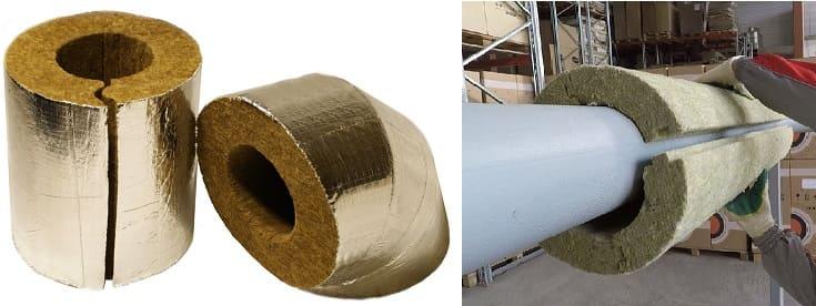 Минеральная вата - этот утеплитель для труб канализации считается классическим вариантом.