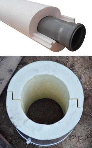 Пенополиуретан - такой утеплитель для канализационных труб чаще используется для защиты трубы от промерзания и от попадания воды.