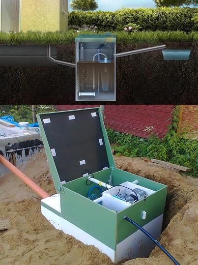 Для канализации на даче подойдет и станция биологической очистки -очищает стоки с помощью бактерий