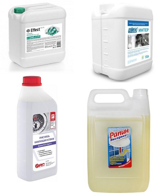 Средство для очистки канализационных труб на основе щелочи, предназначенное для очистки канализационных стоков.