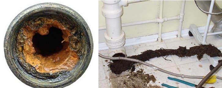 Засор канализации в многоквартирном доме образуется отложениями жира попадающими во внутреннюю полость, вместе с кухонными стоками.