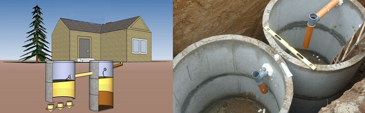 Канализация из бетонных колец обладает недостатком - это вес материала