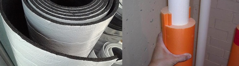 Типы материала шумоизоляции канализационного стояка.
