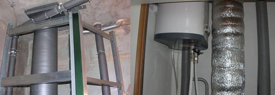 Монтаж короба или звукоизолирующего материала для шумоизоляции канализационного стояка.