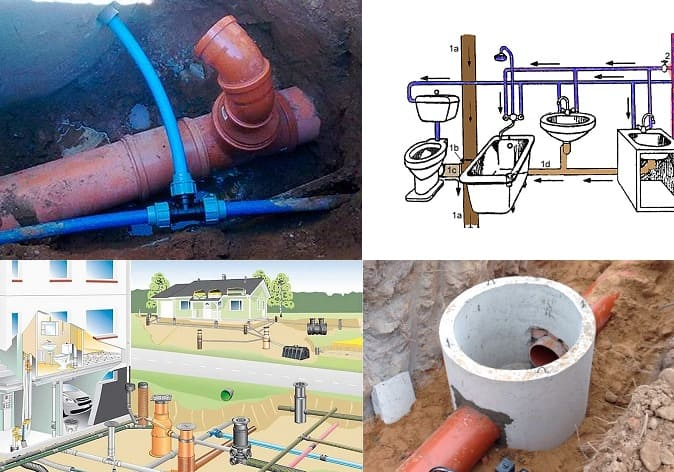 Подключение водопровода и канализации к центральным сетям