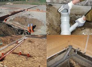 Прокладка канализации — нормы и правила укладки труб