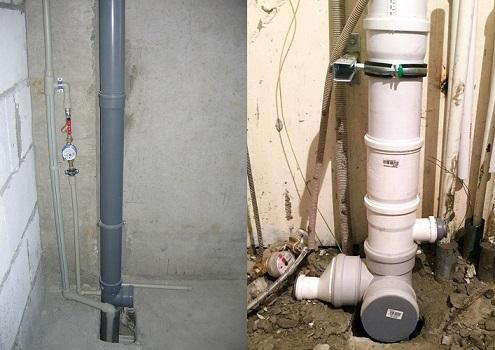 Стояк - основной элемент канализации для отвод стоков.