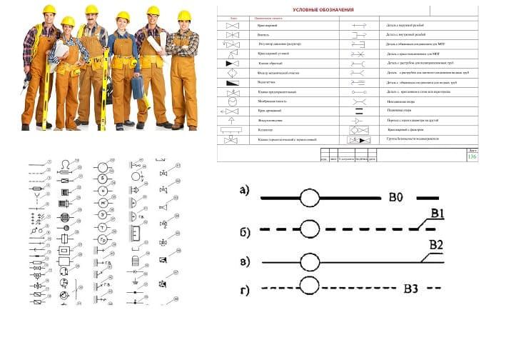 Условные обозначения водопровода и канализации на чертежах