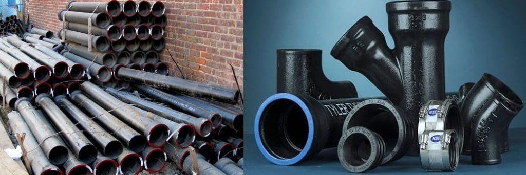 Чугунные трубы для канализации.