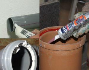 Герметик для канализационных труб: виды и особенности