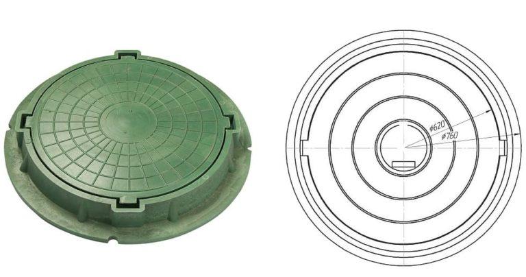 Люк канализационный полимерный: размеры, виды, особенности