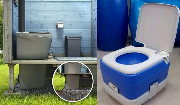 Пример, как сделать туалет в доме если нет канализации и вы проживаете сезонно.