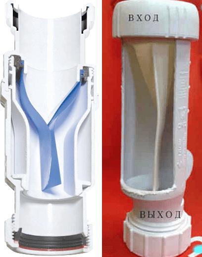 Мембранный гидрозатвор для канализации.