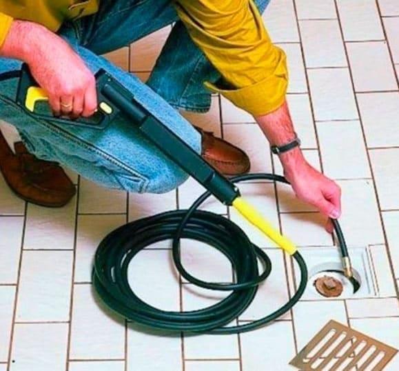 Шланг - насадка для керхера для промывки труб канализации