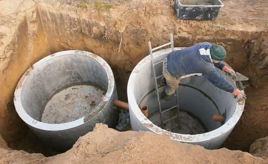 Кольца для канализации с днищем.