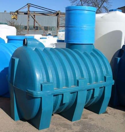 Пластиковые накопительные емкости для канализации в виде бочки