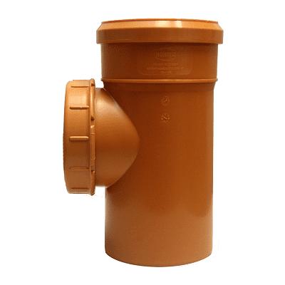 Ревизия канализационная - пластиковые элементы бывают из материала ПВХ, полипропилена.