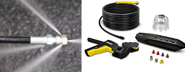 Насадка для керхера для промывки труб канализации — использование шланга