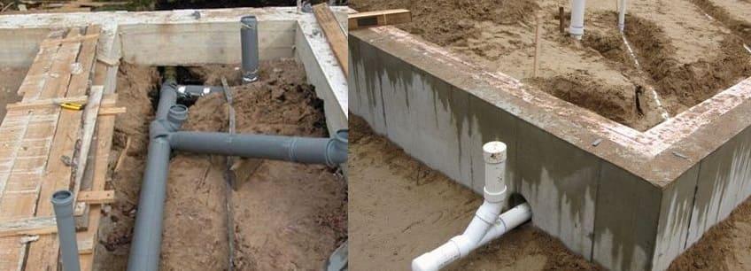 Прокладка канализации под фундаментом: особенности, отверстие в фундаменте
