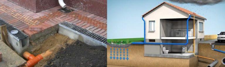 Ливневая канализация в частном доме: устройство, монтаж, правила