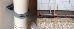 Крепление канализационной трубы к стене — способы монтажа
