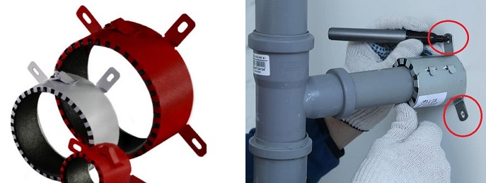 Противопожарные муфты на канализацию: характеристики, принцип работы, установка