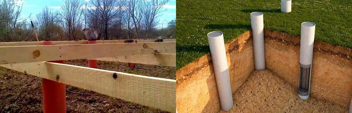 Как самостоятельно построить столбчатый фундамент из пвх труб  пошаговая инструкция