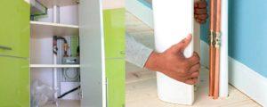 Как спрятать канализационные трубы на кухне — 6 этапов