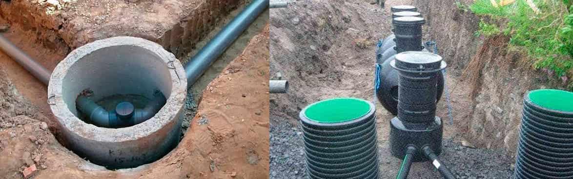 контрольный колодец на канализации