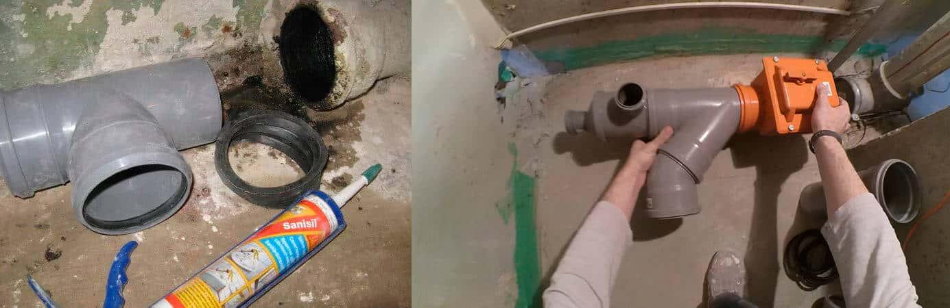 раструб канализационной трубы
