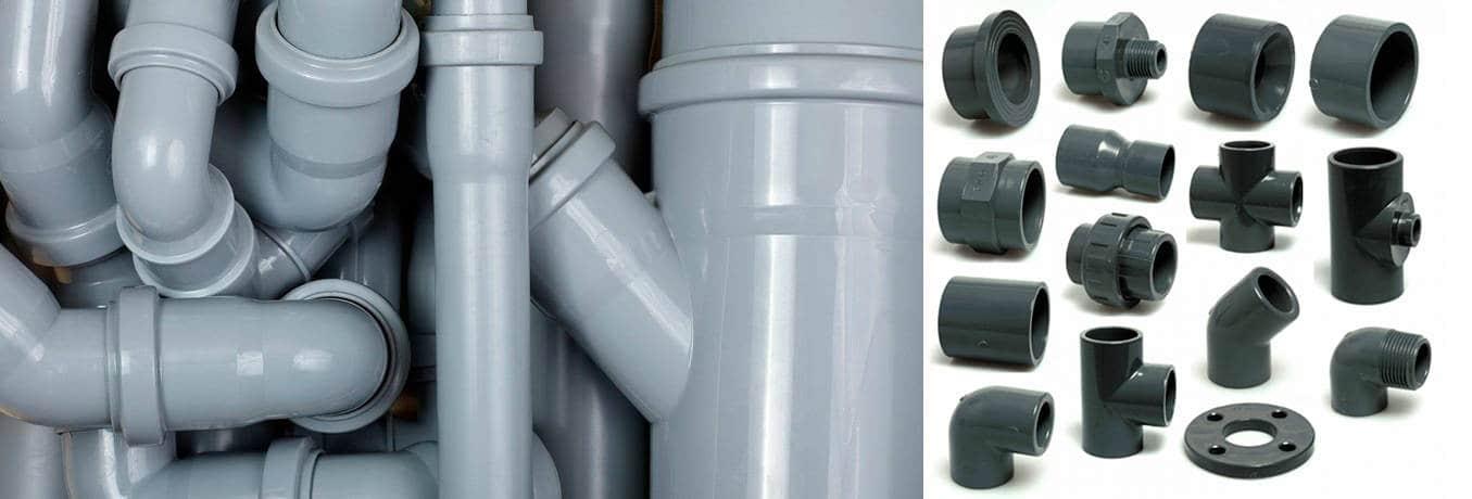 сантехнические трубы и переходники пвх для канализации размеры