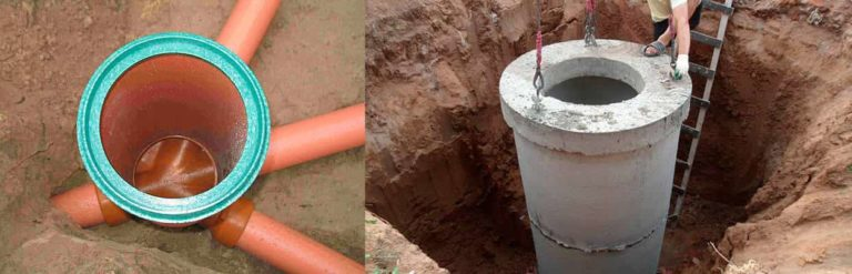 Установка колодцев канализации: устройство и монтаж