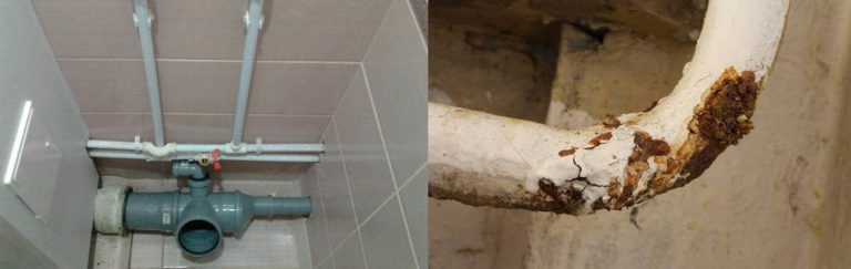 Замена канализации в хрущевке: схема и особенности