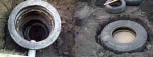Канализация из покрышек — своими руками из колес