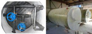 Колодец — гаситель напора канализации, типовой проект: камера гашения