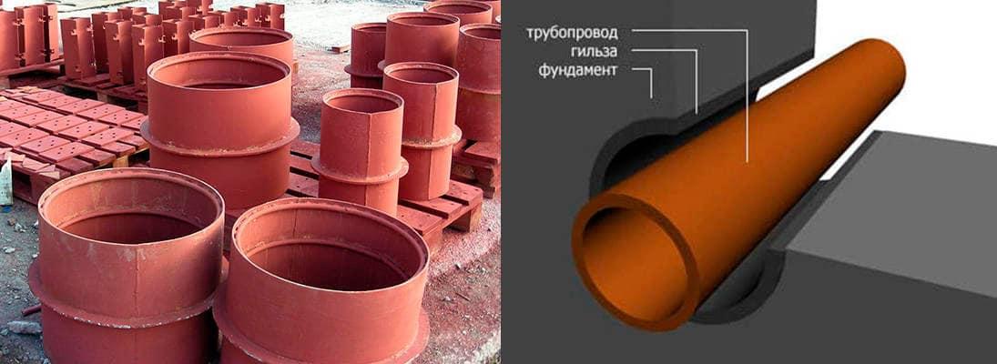 гильзы для труб канализации проход через перекрытие