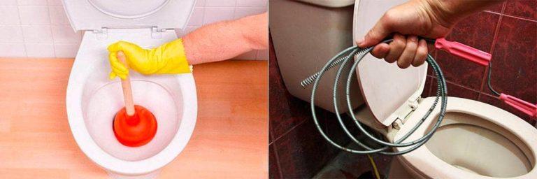 Забилась канализация в туалете — что делать и как прочистить