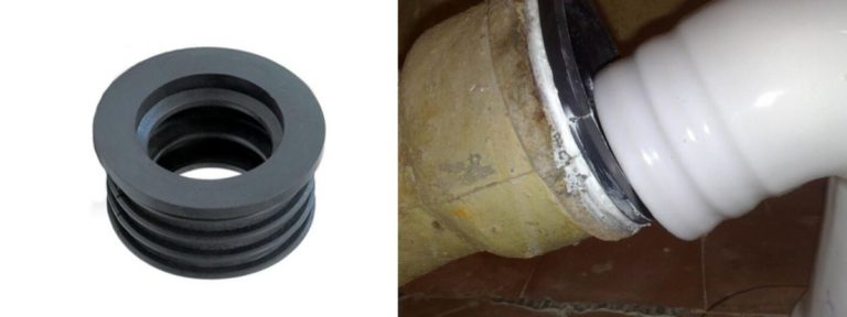 Уплотнители для труб канализации: переходные манжеты, виды, размеры