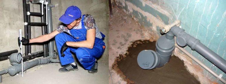 Внутренние сети канализации: устройство внутренней части, стояк, размеры труб