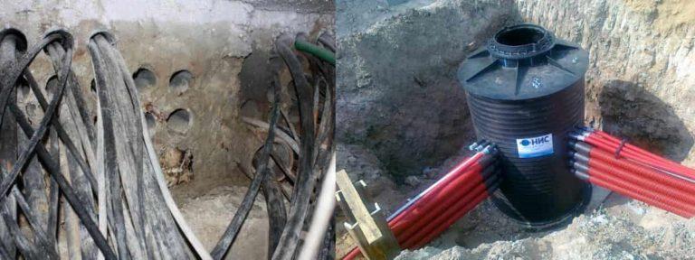 Прокладка кабеля в канализации: устройство каналов, порядок действий